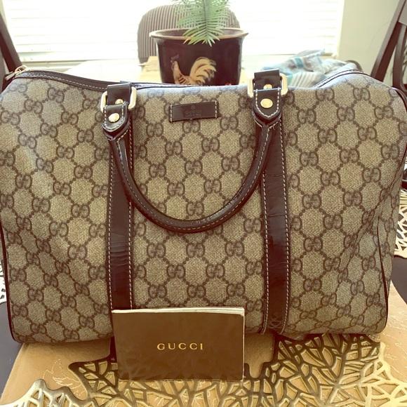 566f98897 Gucci Bags | Authentic Joy Medium Boston Bag Brown | Poshmark